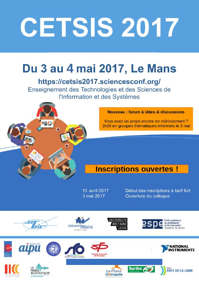 CETSIS 2017 : inscriptions ouvertes